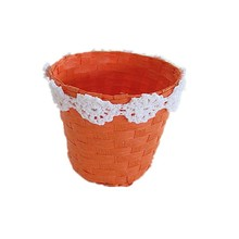 cheap and handmade paper rope stroage basket with beautiful lacework