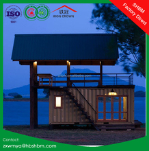 light steel frame prefab movable container house villa, office, home