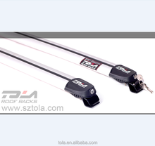 China suppliers TOLA aluminum roof rail cross bar with lock theft prevention auto roof rack