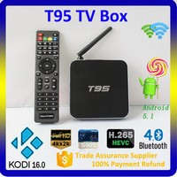 2016 Superior Quality Cheapest HD Sex Porn Video TV BOX T95 Amlogic S905 Quad Core TV Box Android, Smart TV BOX Android