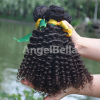 Angelbella 2015 New Arrival Beauty Afro Kinky Human Hair For Braiding Tangle Free Grade 7A Wholesale Afro Kinky Human Hair