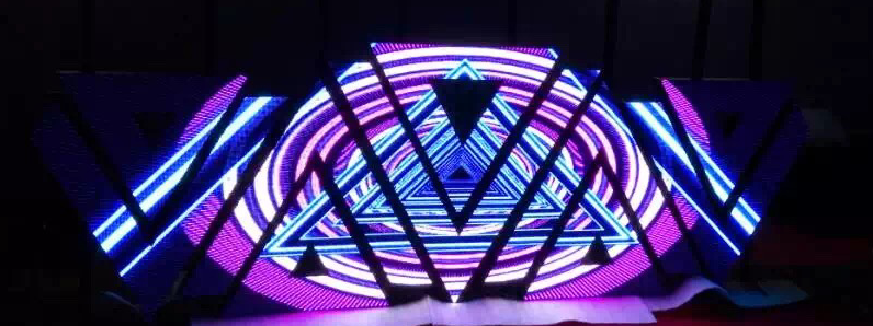 Diversification of model/changeable triangle led screnn for DJ booth/club