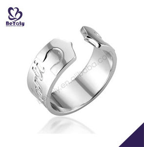 Fashion Design Creative White Gold Plated Rings For Men