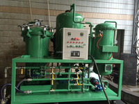 Black oil cleaning Power saving recycling used motor oil , oil filtration system