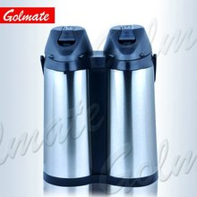 3.8L Double body glass liner thermal airpot, vacuum pumping pot, glass insulated coffee pot
