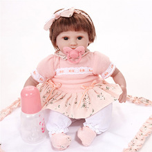 Gift for kids reborn baby dolls in vinyl silicone body