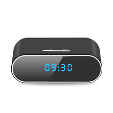 Full HD 1080P Motion Detection Alarm App Realtime Video Remotely Wall Clock Night Vision WiFi Desk Clock Hidden Spy camera