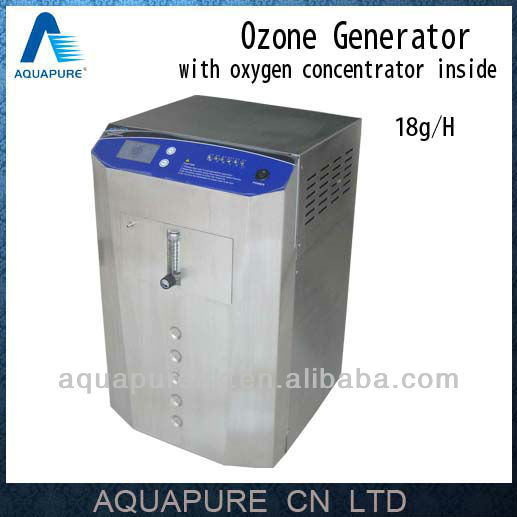 5~18g/h corona discharge swimming pool ozone generator with Medical Oxygen Concentrator