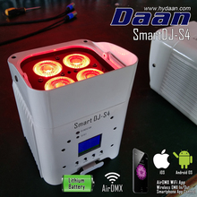 Wireless DMX Battery Powered LED Par Can