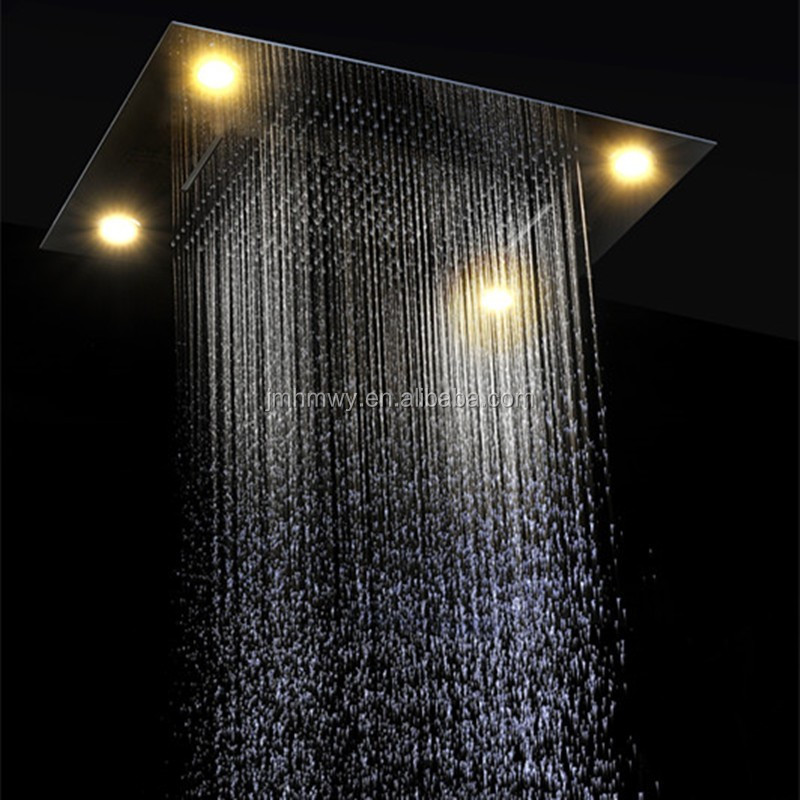LED remote control 600*800mm shower head set with body jet ,bathroom shower mixer set