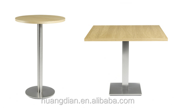 Cheap Price Restaurant Furniture Wooden Table Top Metal Table Base Durable Di
