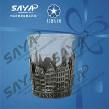 3D relief san francisco metal shot glass or metal cup