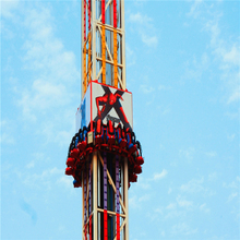 china direct ride popular large thrilling amusement theme park ride free fall ride for sale
