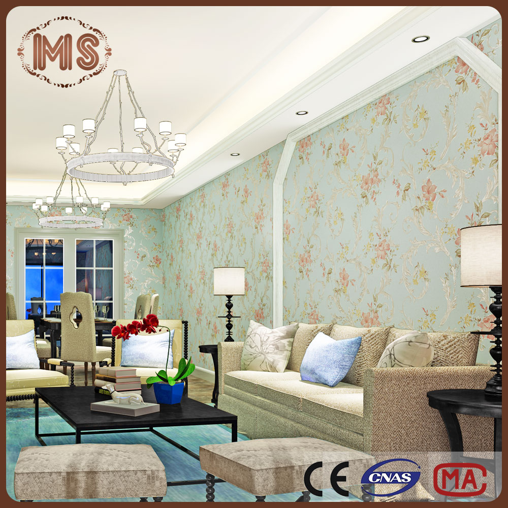 MSYD Amercian size 3d high quality non woven paper backed fabric wallpaper