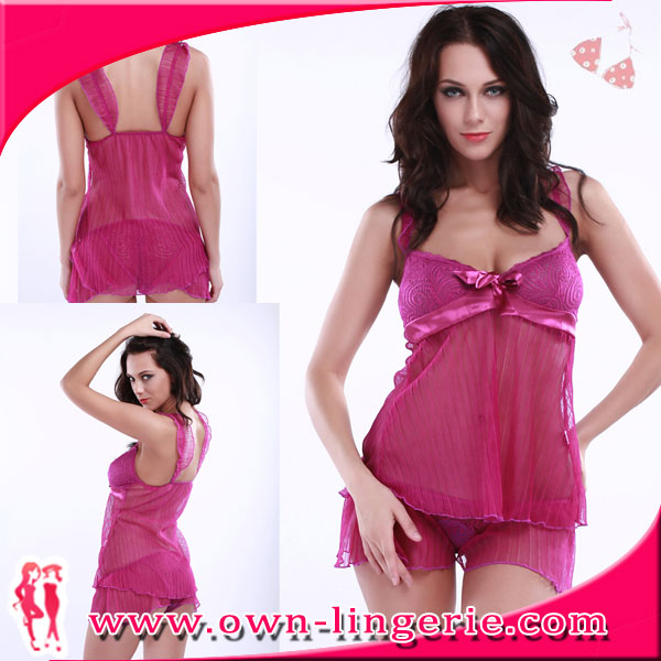 pictures of women in nightgowns,pink transparent women cotton lace trim nightgowns