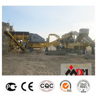 China Top 1 mobile crushing plant track bwm 130 for sale certified by CE ISO GOST