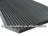 Oil Resistant fine rib /ribbed rubber matting