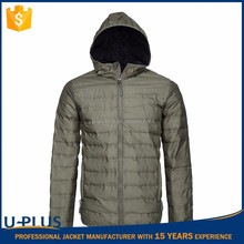 New products men's packable down jacket with hood with top quality