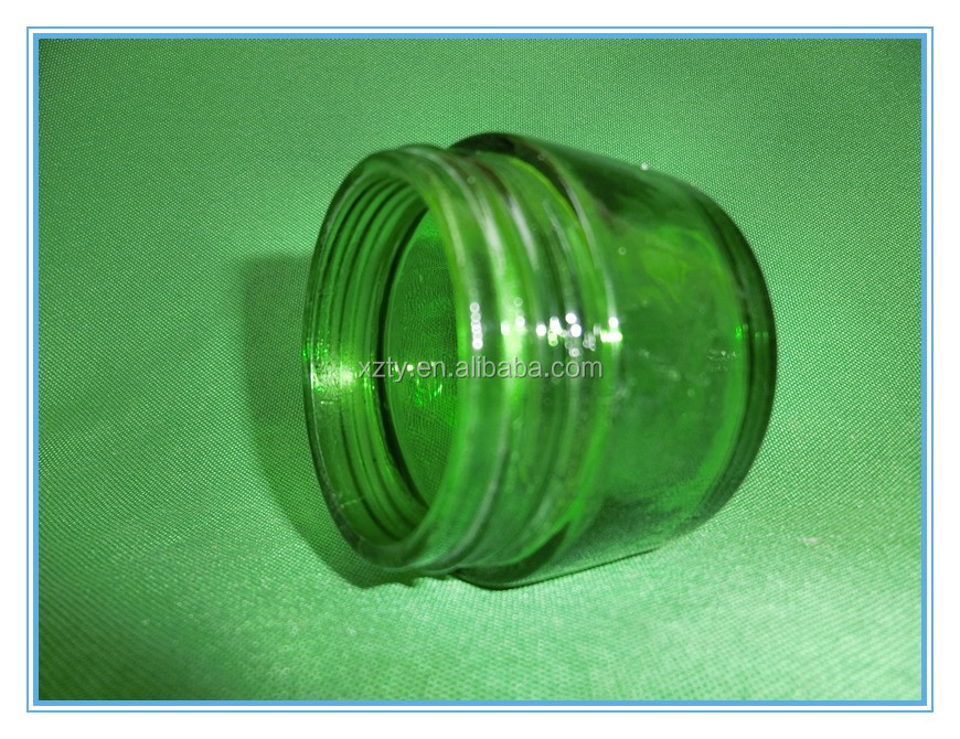 40ml Mini Straight Shaped Cosmetic Spray Green Color Glass Essential Oil Empty Jar