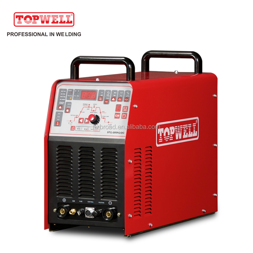 powerful Multi function AC/DC tig welding machine&plasma cutting STC-205AC/DC
