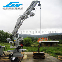 70 ton Hydraulic Knuckle Boom Port lifting Marine Crane winch and cylinder optional