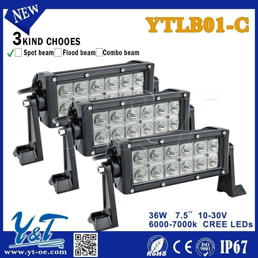 Latest Designed 2015 agriculture machinery light bar 7.5 inch 36w light bar Driving light bars with angel eyes