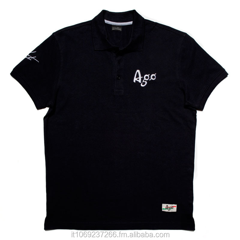 Short-Sleeve Polo Legend Black Giacomo Agostini