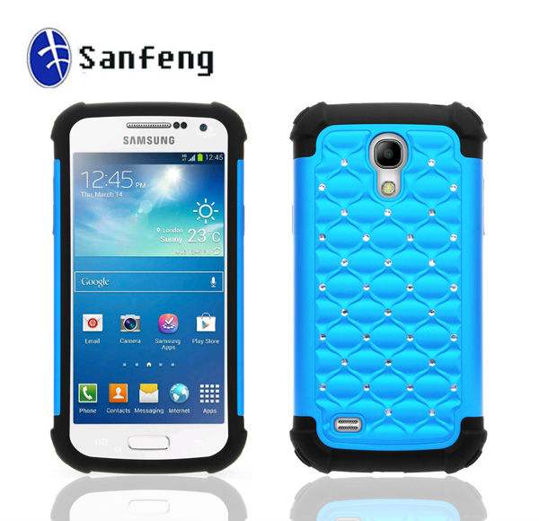 Best protector phone cover hard case for samsung galaxy s4 mini/newest cell phone holder for samsung s4 mini shiny case