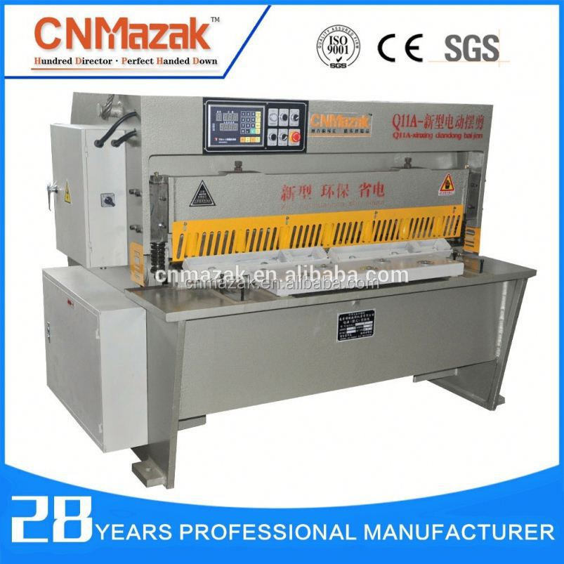 CE&ISO 2016 newest CNMazak <strong>Q11</strong> mechanical metal sheet shearing machine