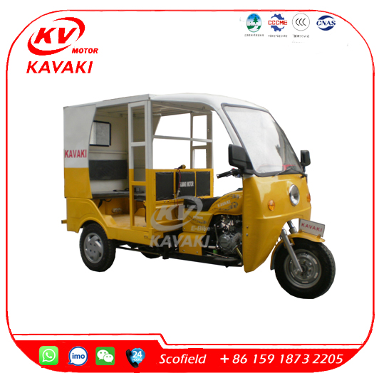 KAVAKI 200CC Bajaj Auto Rickshaw India Price Motor Tricycle Tuk Tuk for Sale