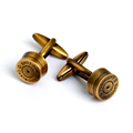 Vintage copper round shot-gun cufflinks