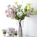 China artificial flowers four heads artificial silk flowers hydrangea
