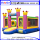 Pretty outdoor girls inflatable crown jumping castle with inflatable slide