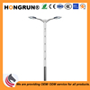 Basic type Dual-arm street light pole offered professional OEM service lamp poles