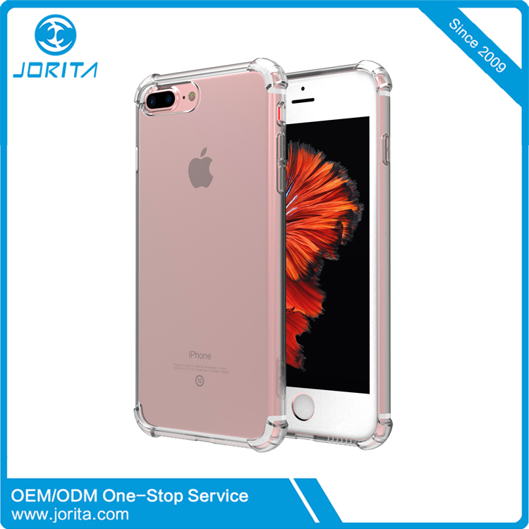2017 Wholesale Crystal Clear Shock Absorption 5 inch mobile phone back cover for iPhone 7plus