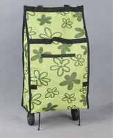 practical portable rolling grocery custom folding shopping tote bag with wheels