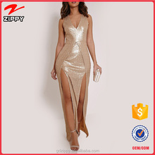 Vestido de noche Gold Dress Quinceanera Dresses 2015