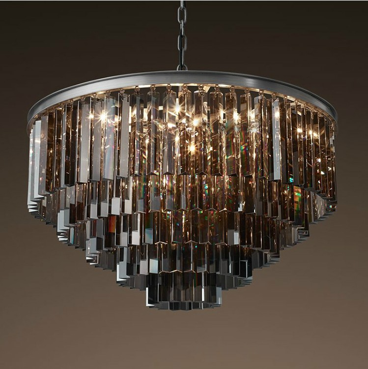 classical big round crystal chandeliers in stock