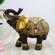 Dark brown color resin thailand elephant sculptures for sale