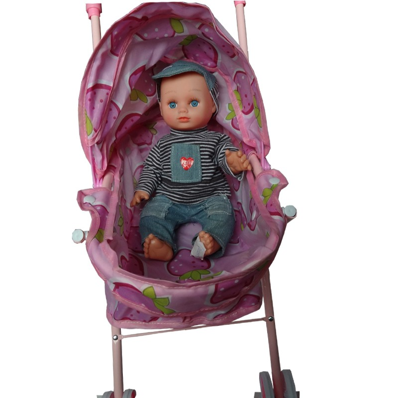 Export softextile reborn baby stroller doll toy