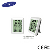 high quality white Wireless Indoor digital humidity Thermometer meter