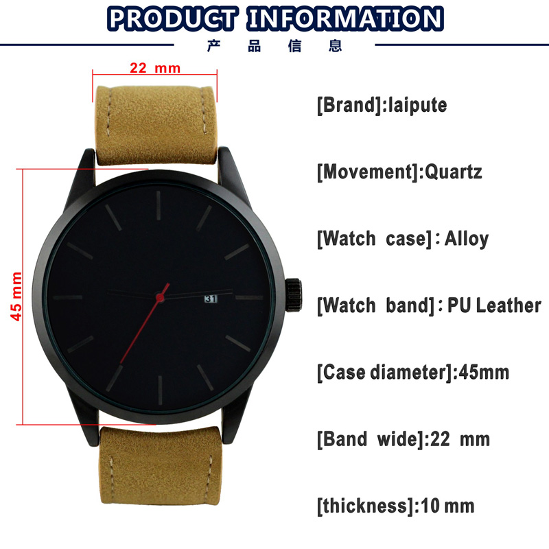 Shenzhen wholesale wristwatch with stainless steel back quartz quality sport men's watches water resistant OEM logo