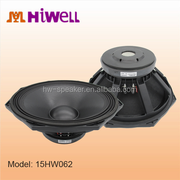 Best BUY 2015 High efficiency promotional fast 15 inch woofer,low mid speaker