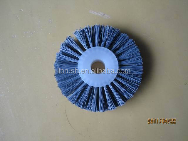 rotary wheel brush for machine
