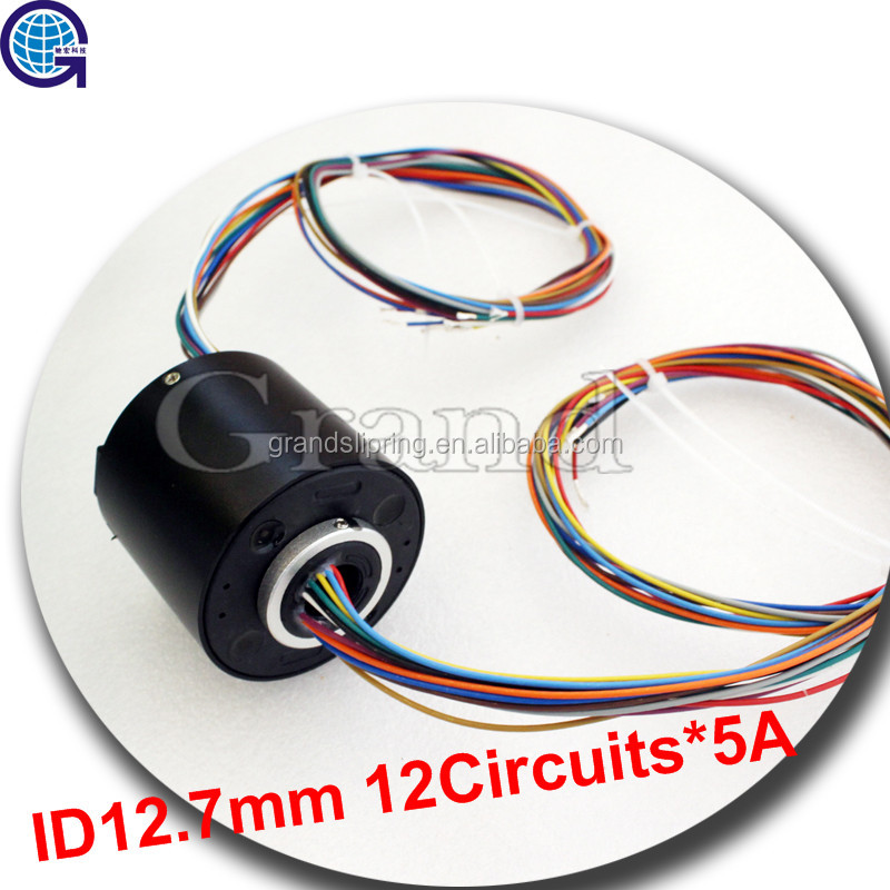 12.7mm 12 conductors slip ring design Exhibit / display equipment slip ring rotary joint electrical connector