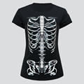 Round neck black wholesale women3d printing t shirt