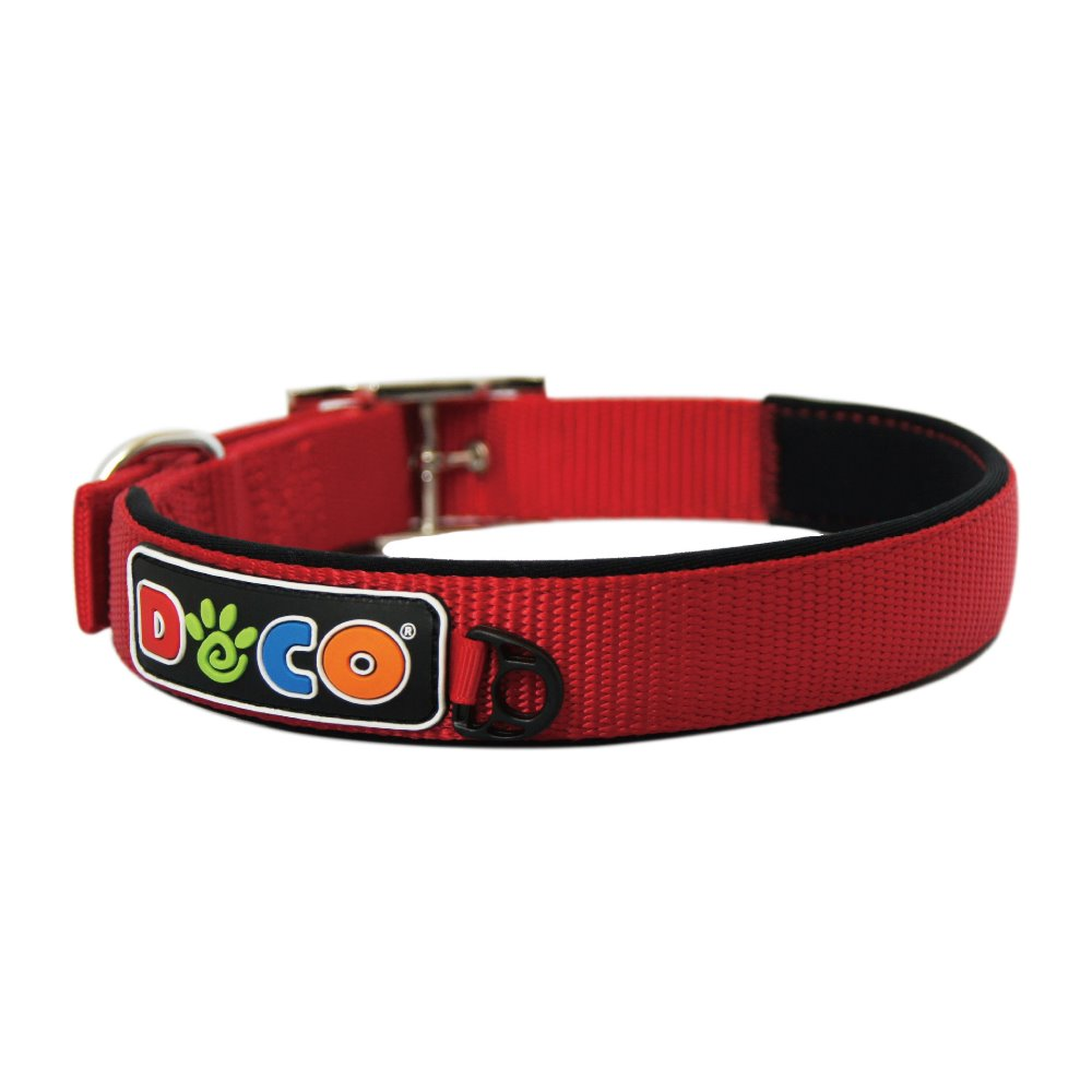 Wholesale colorful hot sale Zinc Buckle nylon collar dog Large Red