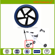 200mm high rebounce polyuthane folder golf push cart tire wheel