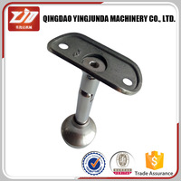 180 degree tube support with flat end cap handrail fitting stainless steel railings price