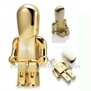 high quality metal robot flash usb drive